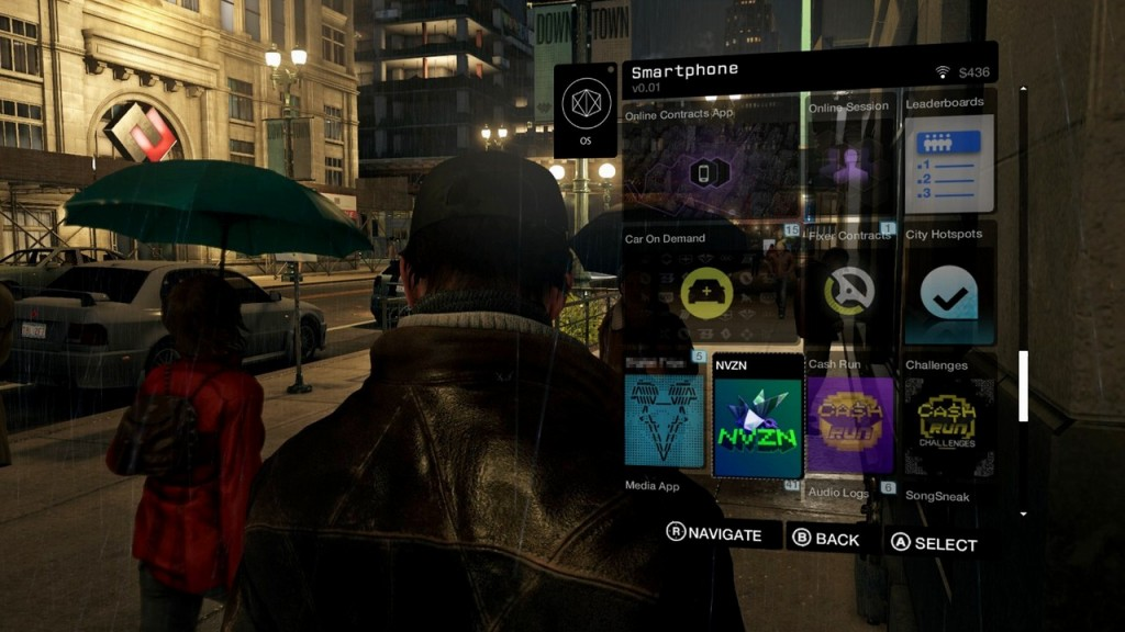 watch dogs interface